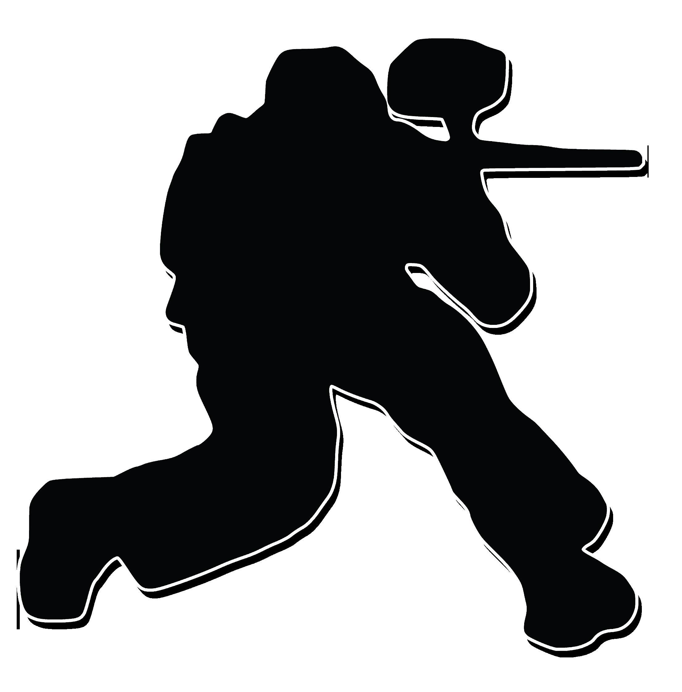 Pro Paintball Shop Silhouette Paintball Guns Stencil.