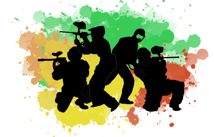 Paintball Games Shooting sports Illustration.