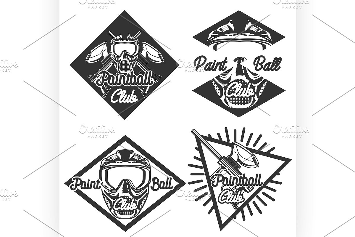 Vintage paintball emblems.