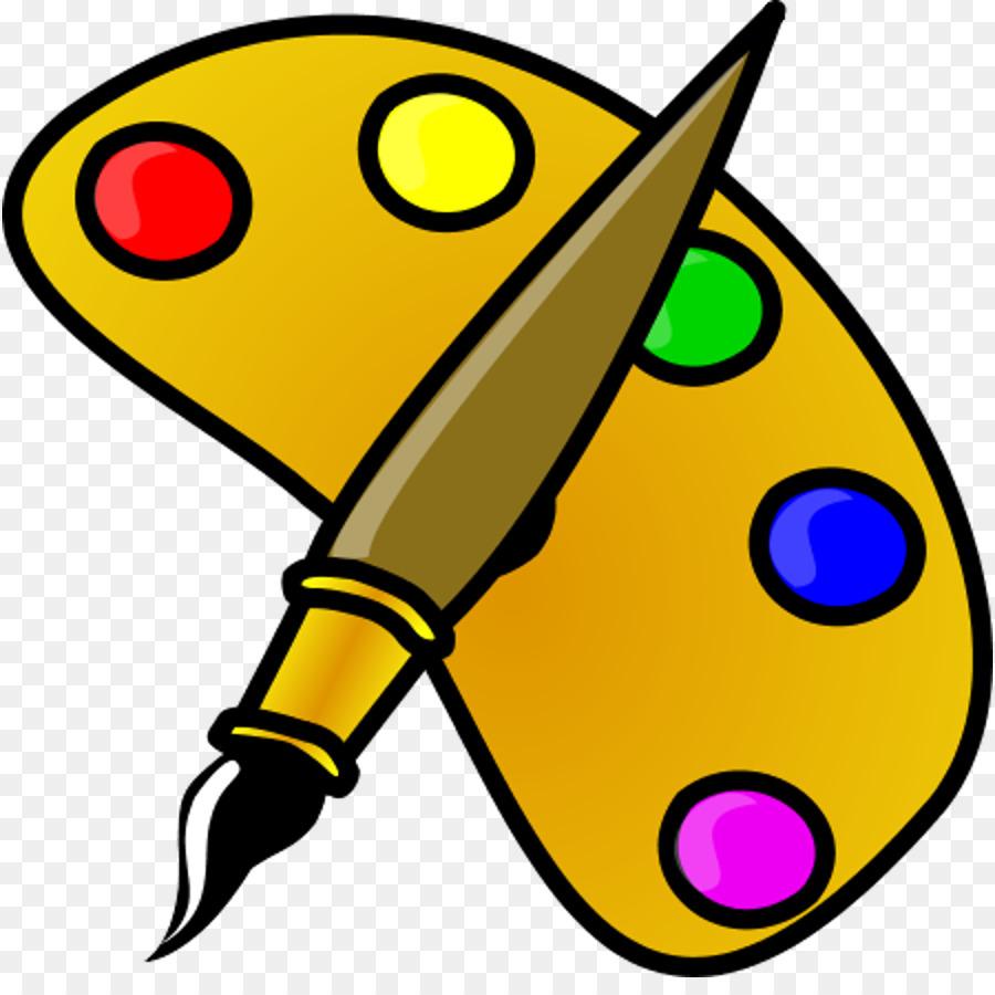Drawing Paintbrush Palette Clip art.