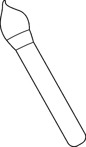 Black and White Art Paint Brush.