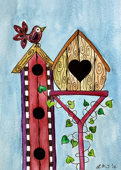 1000+ images about Hand painted bird house on Pinterest.