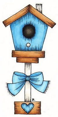 Painted Bird House Clipart Clipground