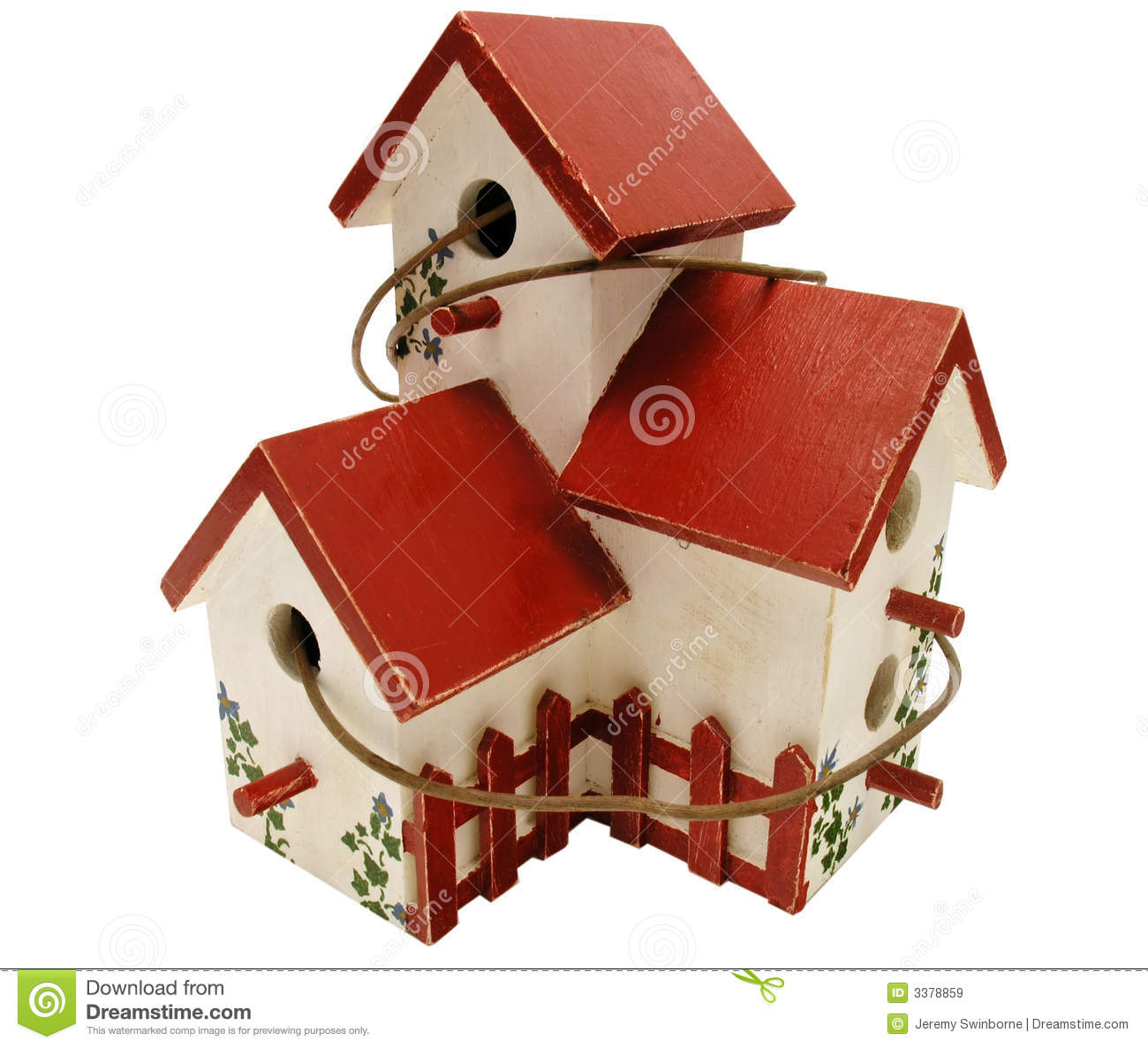 Hand Painted Bird House Royalty Free Stock Images.