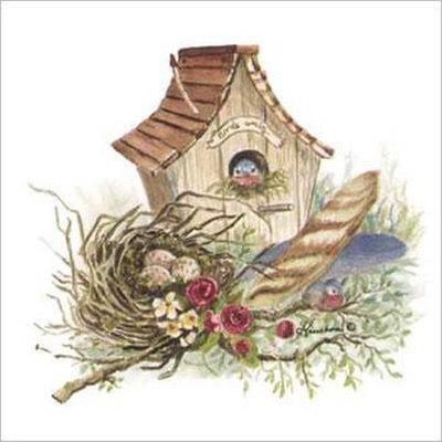 Painted Birdhouse Clip Art.