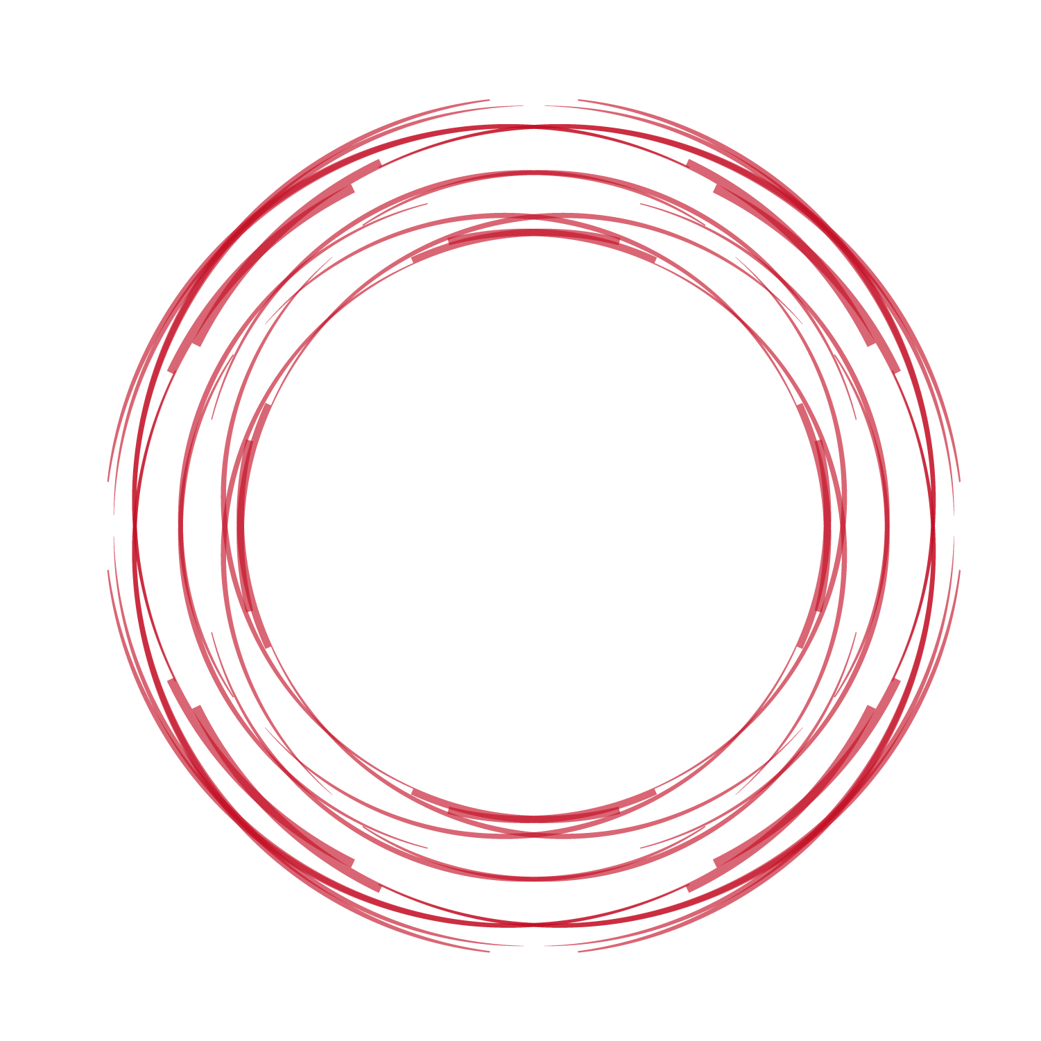 Vector red circle hand.