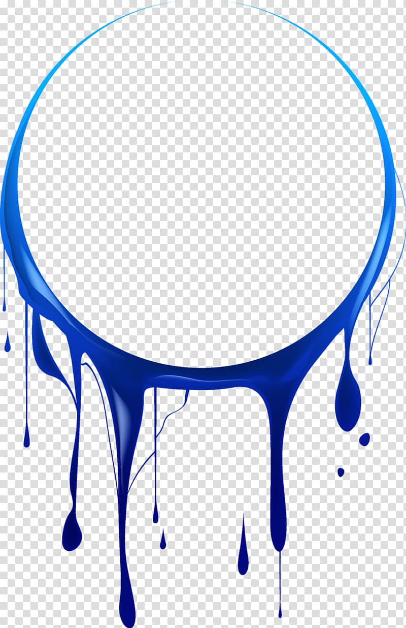 Blue dripping liquid illustration, Painting, paint drip.