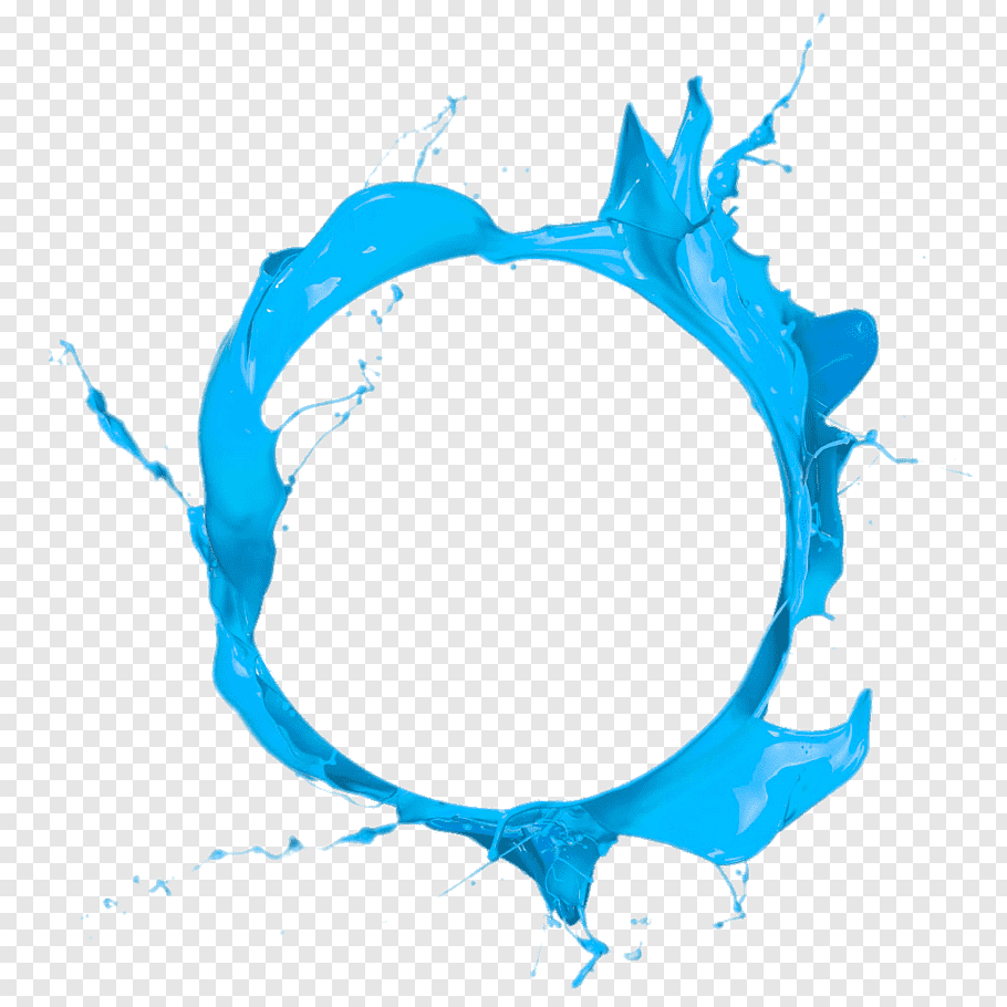 Circle Paint Blue, Blue circle paint, round blue liquid free.