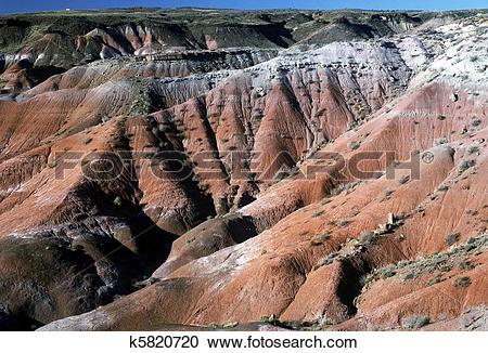 Stock Photography of Painted desert, Arizona. k5820720.