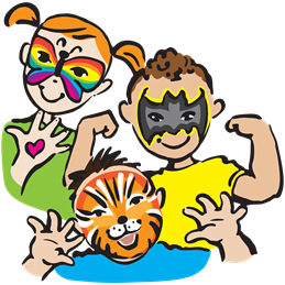 Clip Art Face Painting Designs.