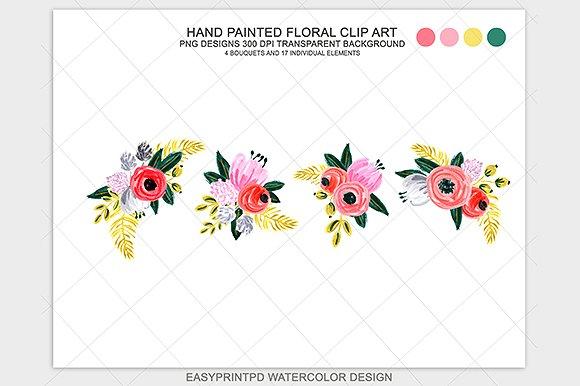 Hand Painted Flower Clip Art ~ Illustrations on Creative Market.