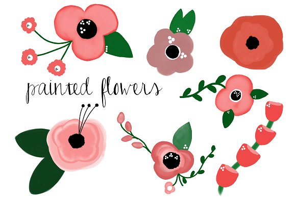 Painted Flowers ~ Illustrations on Creative Market.