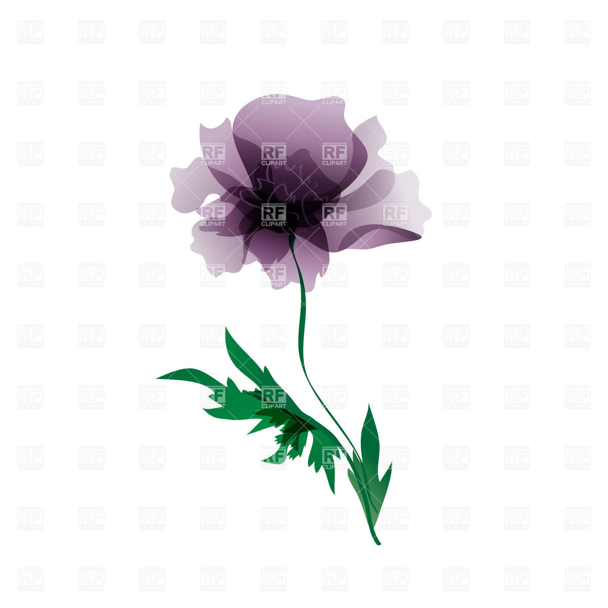 White color painted flower clipart.