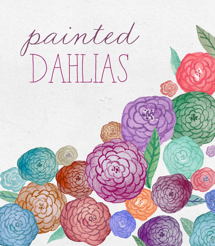 Painted Flower Clipart.