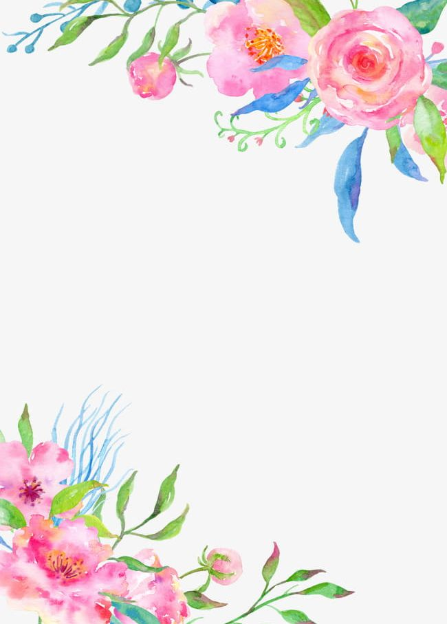 Hand Painted Flower Borders PNG, Clipart, Borders Clipart.