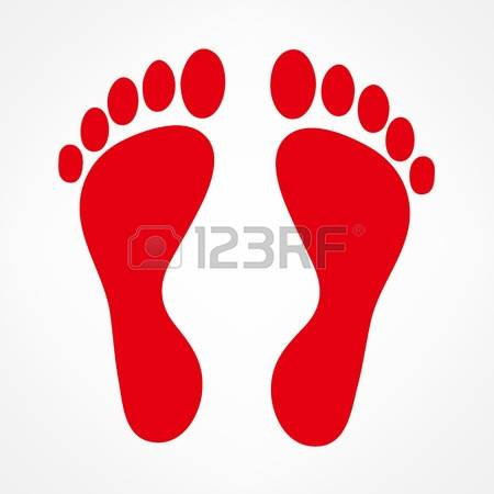 74 Painted Footprints Stock Vector Illustration And Royalty Free.