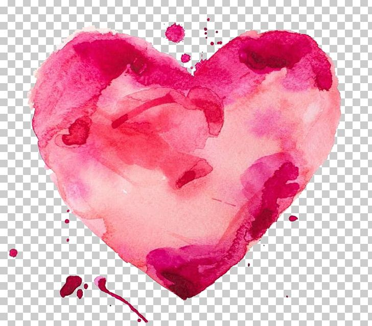 Watercolor Painting Heart Stock Illustration PNG, Clipart.