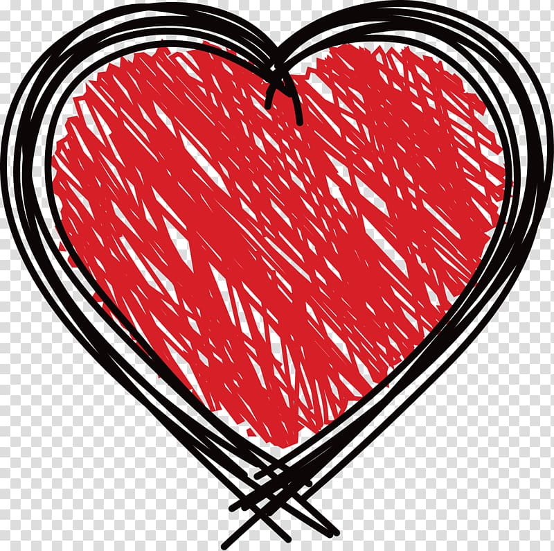 Red heart illustration, Heart Doodle Drawing , Graffiti.