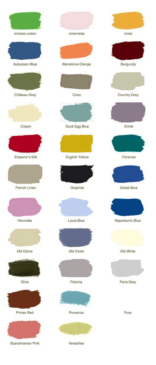 1000+ ideas about Chalk Paint Colours on Pinterest.