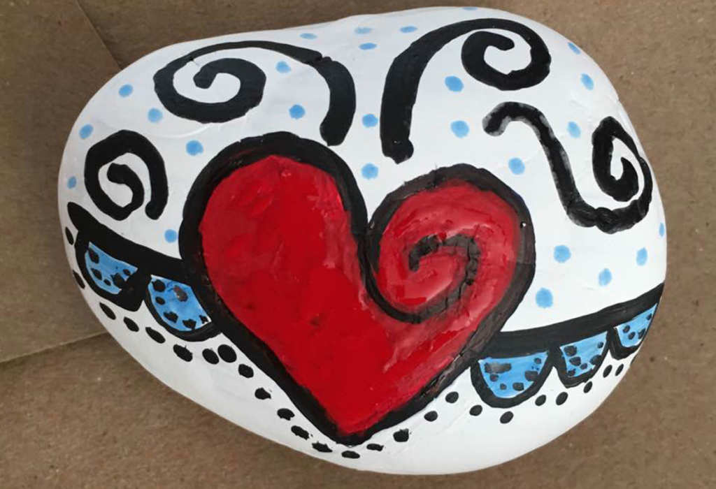 Painted rock projects aims to promote kindness in the.