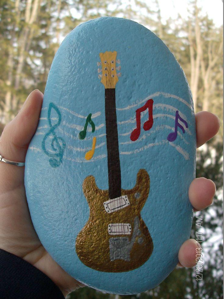 Decorative Rocks : Dons Guitar.