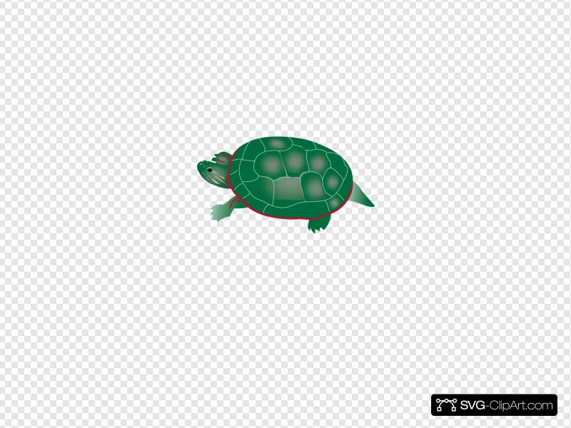 Painted Turtle Clip art, Icon and SVG.