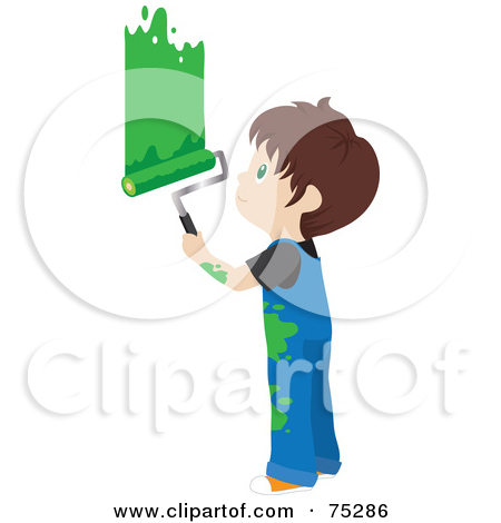 Painting a wall clipart.