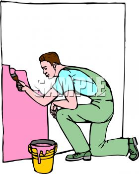 Showing post & media for Wall painting clip art cartoon.