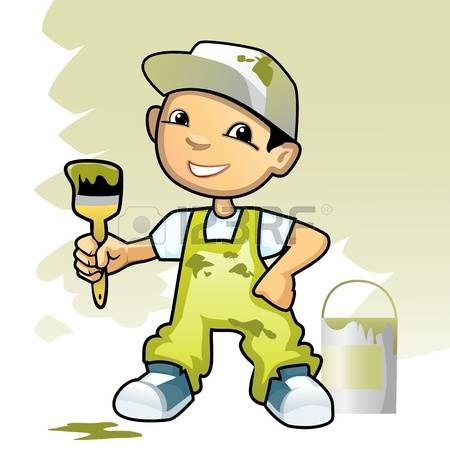 painter and decorator clipart #2
