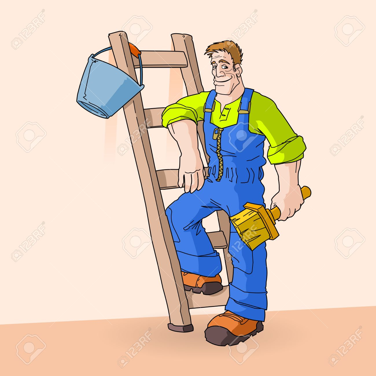 Clipart Painter And Decorator.