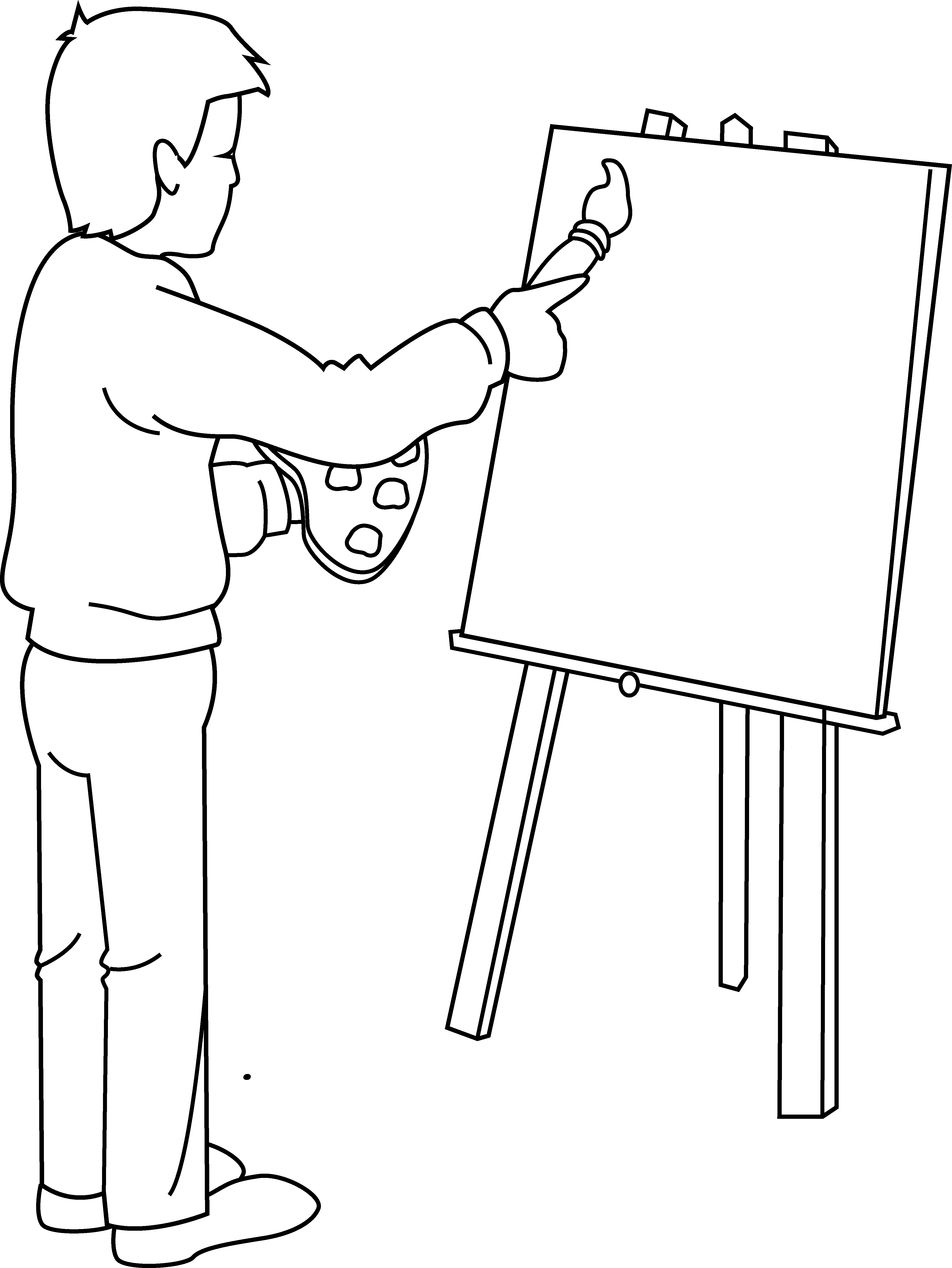 Free Painter Clipart Black And White, Download Free Clip Art.