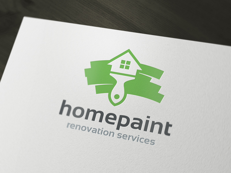 Home Painter Logo Template by Alex Broekhuizen on Dribbble.