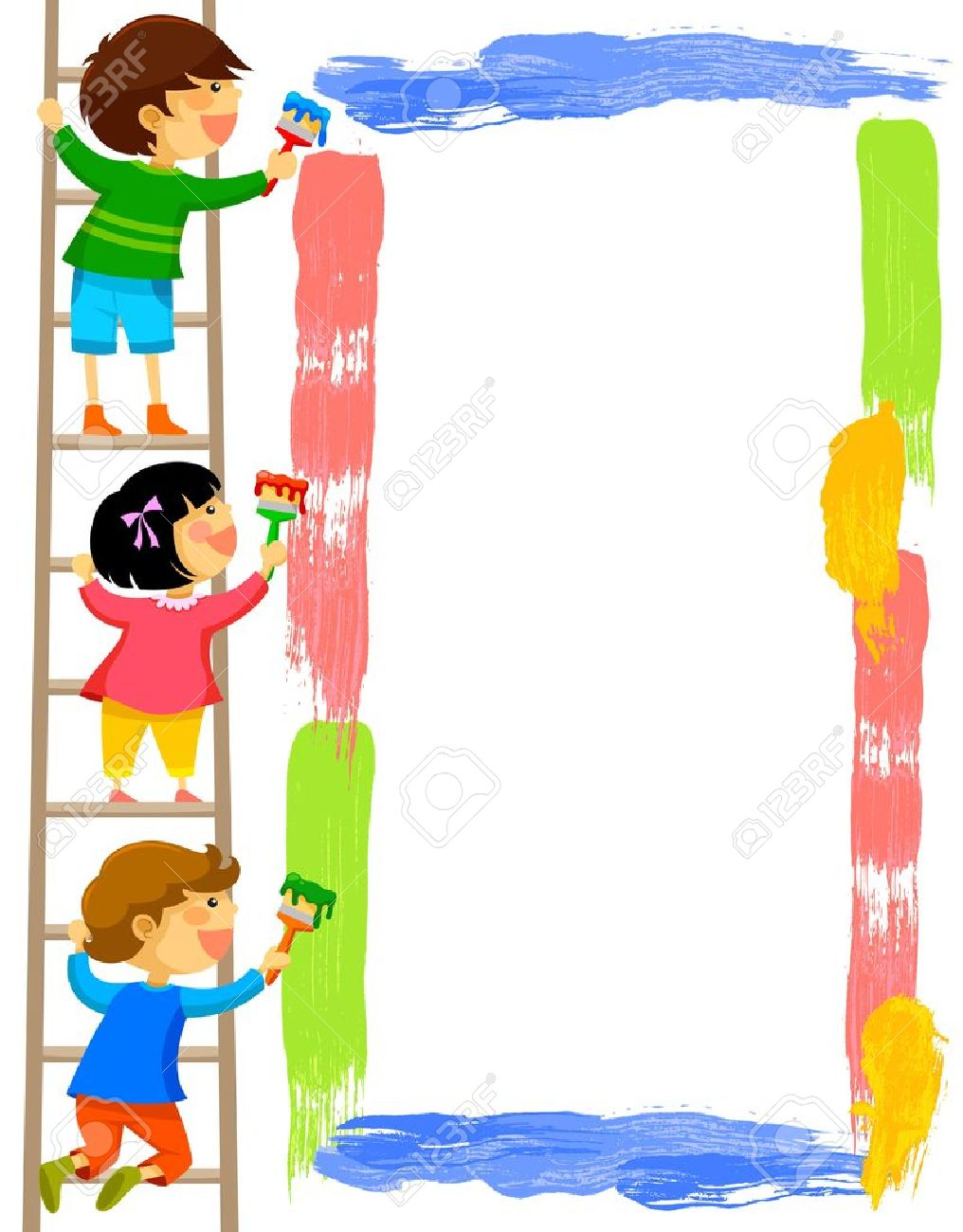 36,986 Children Painting Cliparts, Stock Vector And Royalty Free.