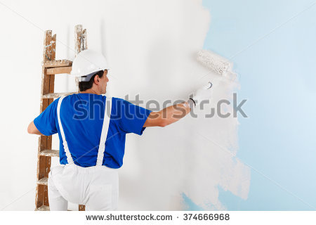 Painting House Stock Images, Royalty.