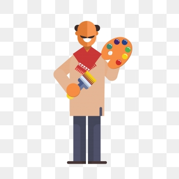 Painter Cartoon PNG Images.