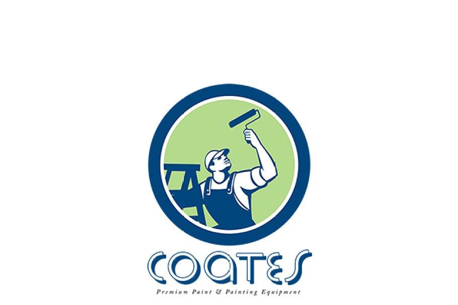 Coates Premium Painters Logo ~ Logo Templates ~ Creative Market.