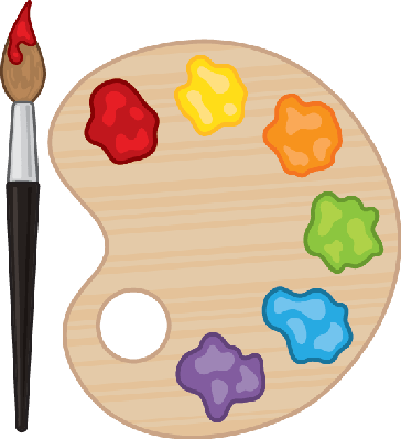 Painting palette clipart clipart images gallery for free.