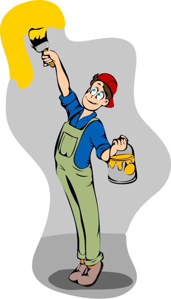Wall Painter Clipart.
