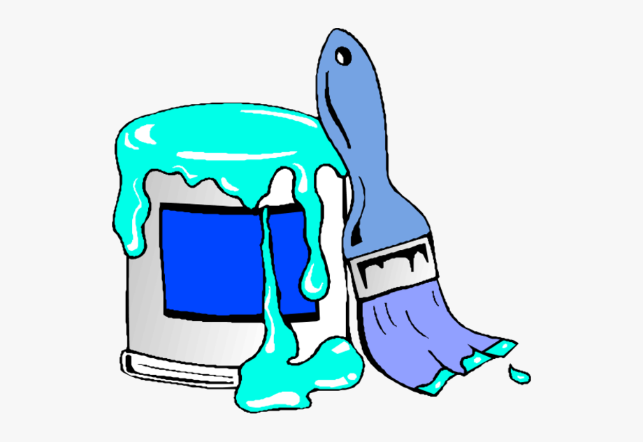 Paint Can And Brush Clip Art N7.