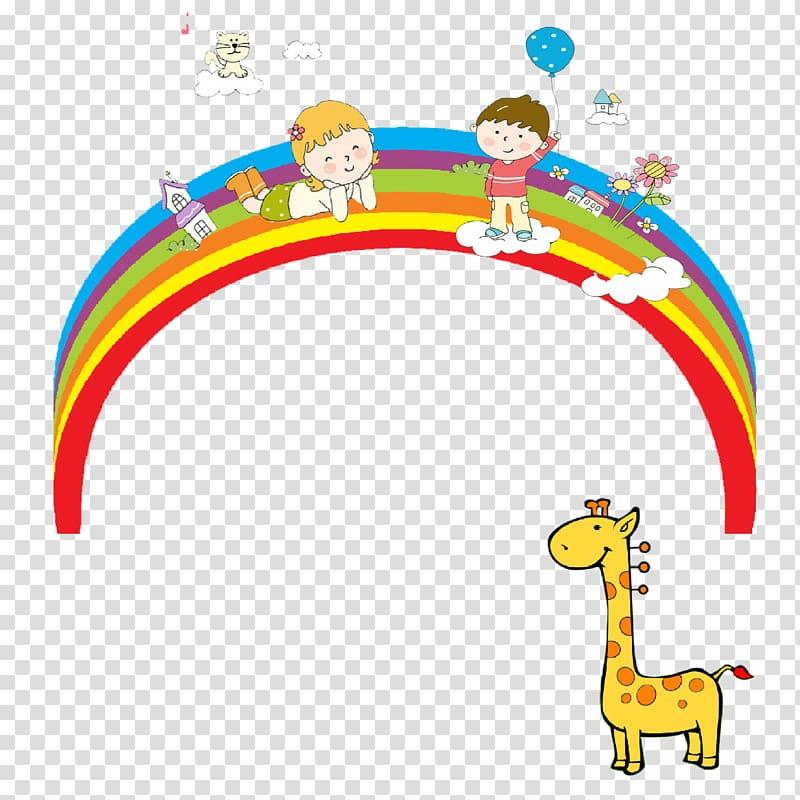 Rainbow Bucket Cartoon , Rainbow cartoon painting class.