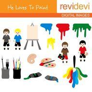 Painting class clip art.