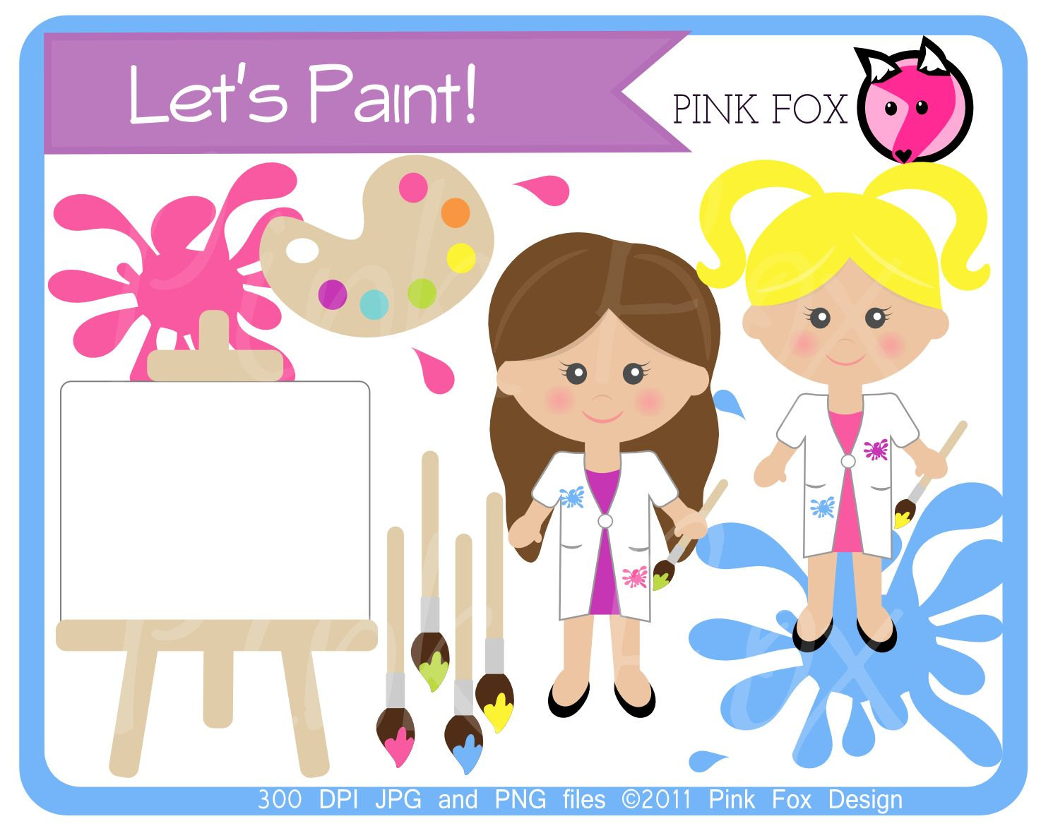 INSTANT DOWNLOAD, painting clipart.