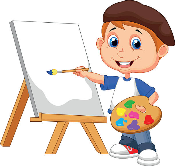 Kids Painting Clipart.