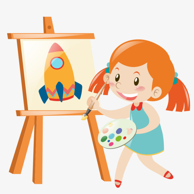 Girl painting clipart 8 » Clipart Station.