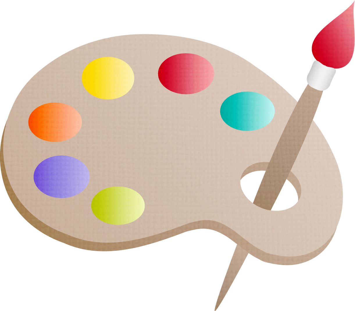 Drawing Painting Palette Clip art.