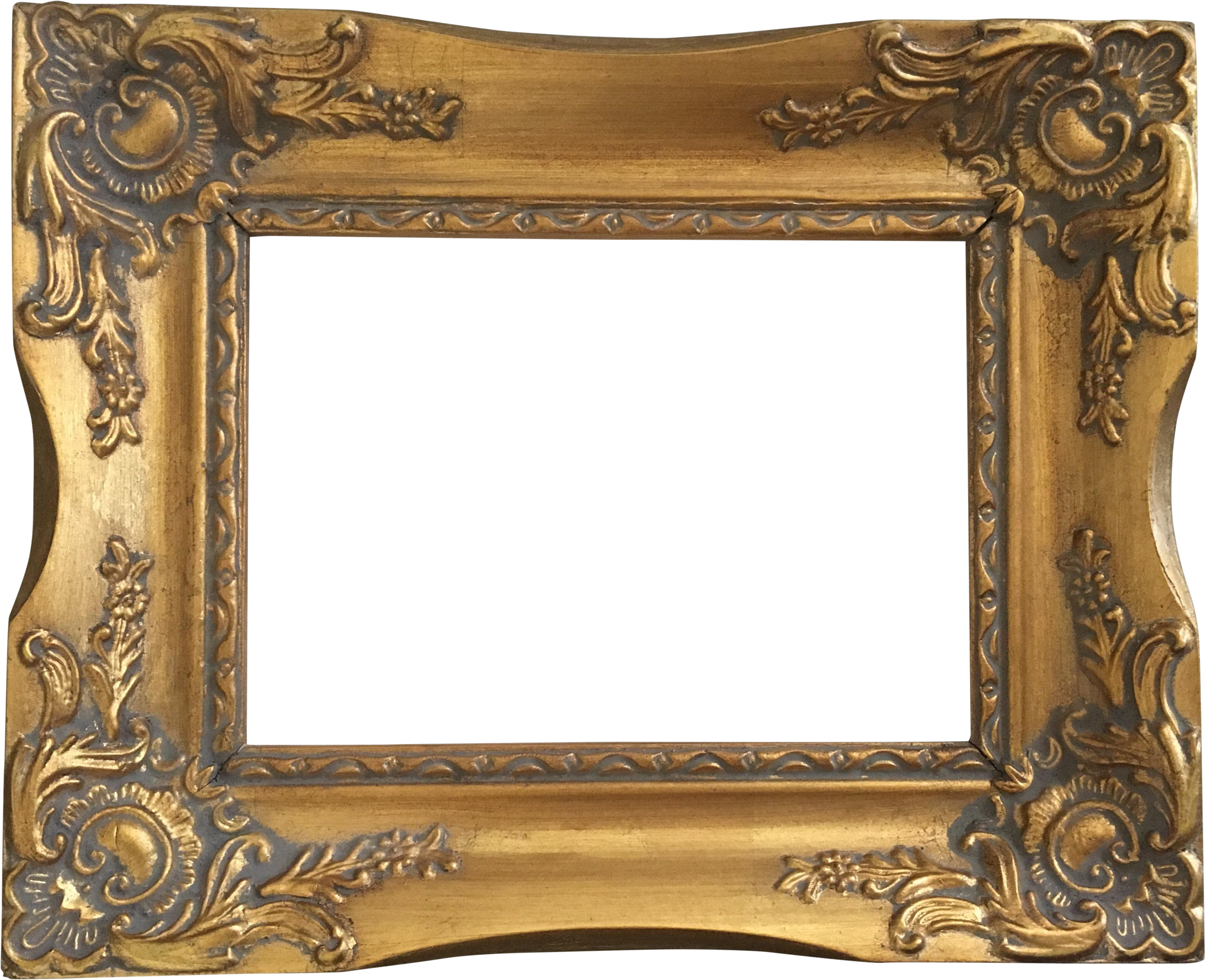 HD Antique Gold Frame.