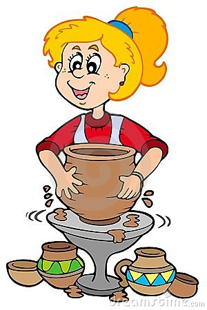 242 Pottery free clipart.