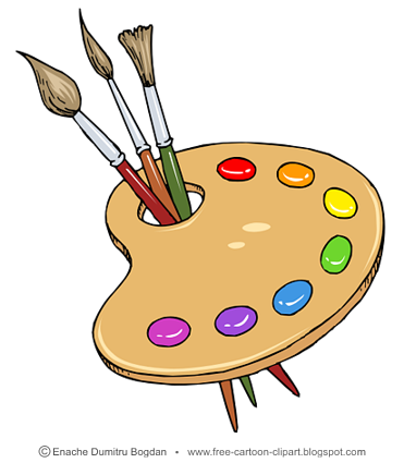 Painting tools clipart.
