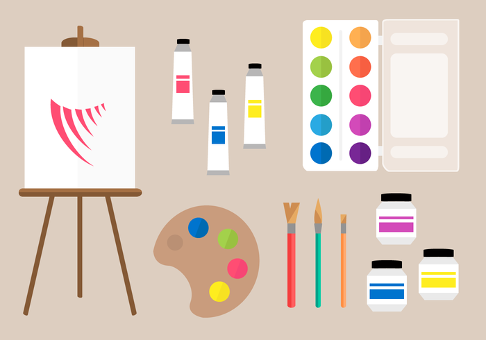 Free Painting Tools Vector.