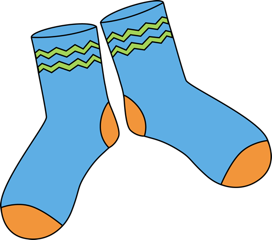 Pair of Blue Socks.